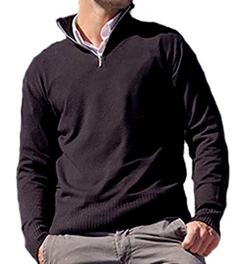 Balldiri 100% Cashmere Uomo Pullover Troyer 4 fädig CAPPUCINO M M M b96a7b