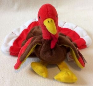 Image is loading TY-TURKEY-GOBBLES-Beanie-Baby-THANKSGIVING-ORIGINAL-1996- b251bc6b722