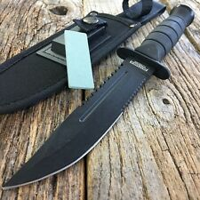 """10.5"""" MILITARY TACTICAL COMBAT KNIFE w/ SHEATH Survival HUNTING Fixed Bowie-W"""