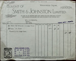 Smith-amp-Johnston-Ltd-Weigh-House-Square-Aberdeen-Billhead-23rd-May-1942
