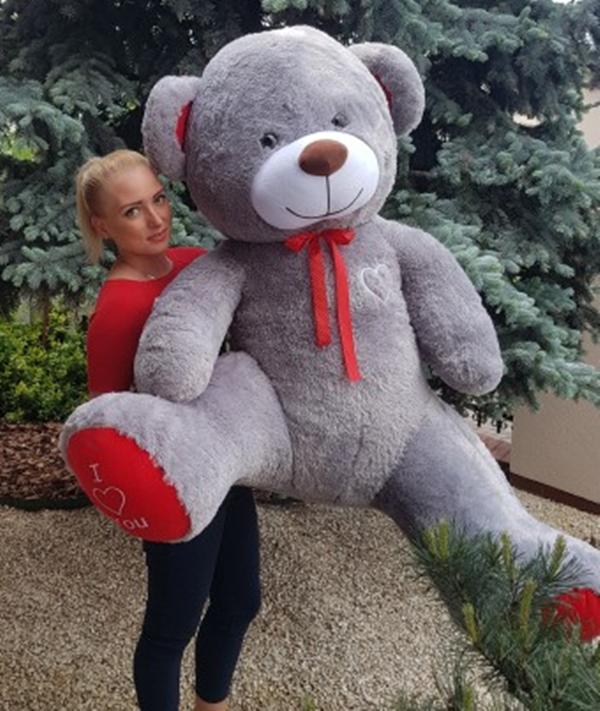 190 cm   GIANT TEDDY BEAR LARGE BIG HUGE STUFFED grau BIRTHDAY WEDDING  GIFT