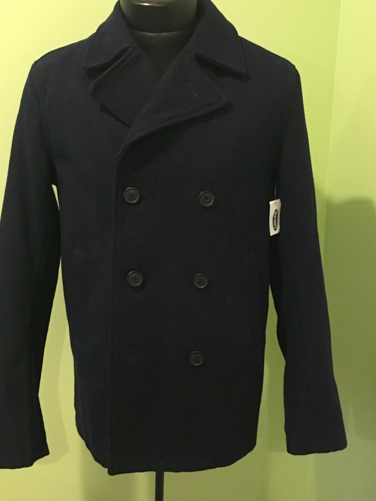 Old Navy bluee Wool Peacoat Men's Small Men New With Tags NWT S Pea Coat NAVY
