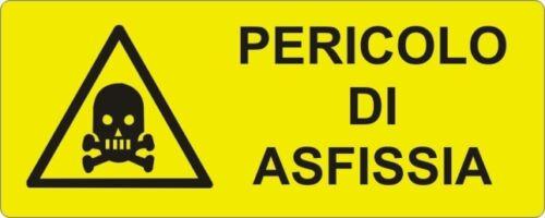 Avvertenza PERICOLO DI ASFISSIA segnale di sicurezza