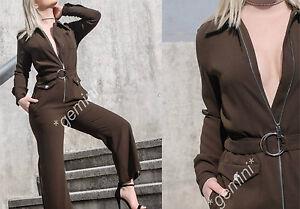 Long Long Taglia Long Belt M Zara Zip cintura Combination Zipper con Khaki wxg5qAq1