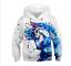 Boy Girl Animal Unicorn 3D Printed Hoodie Sweatshirt Pullover Jumper Coat Jacket