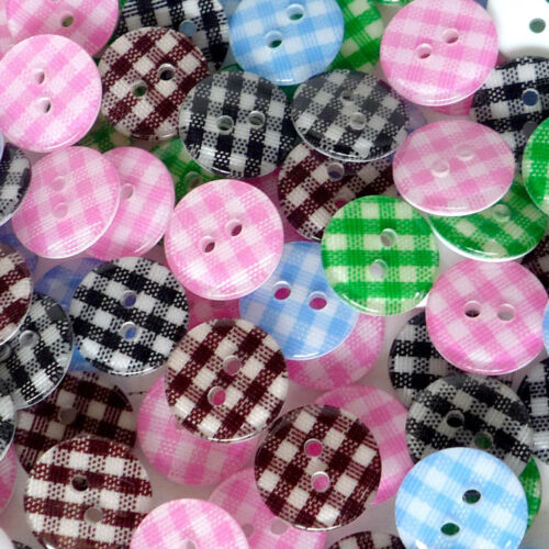 Pink//Black//Blue//Green//Brown plastic grid button lots Ø11mm 2 holes sewing crafts