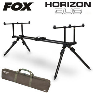 Fox Horizon Duo 3 Rod Pod Complete with Storage Case Carp Fishing
