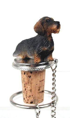 WIRE  HAIRED  DACHSHUND     DOG   WINE STOPPER