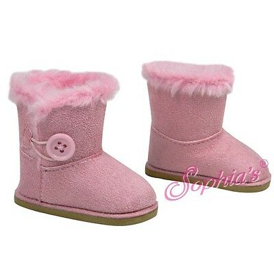 SUEDE SHERPA EWE BOOTS SHOES fits American Girl Dolls NEW PINK
