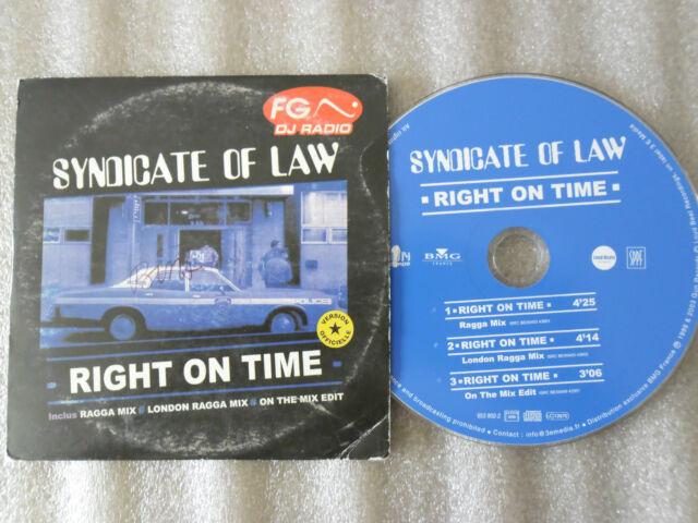 CD-SYNDICATE OF LAW-RIGHT ON TIME_LONDON RAGGA_DJ RADIO_(CD SINGLE)-2003 3TRACK