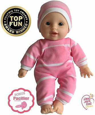 Caucasian Baby Doll 11in Soft Body Realistic Pink White Outfit Hat Gift Box Safe
