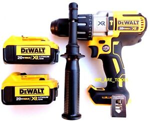New-DeWalt-DCD996-20V-Brushless-1-2-034-Hammer-Drill-2-DCB204-4-0-Batteries-MAX