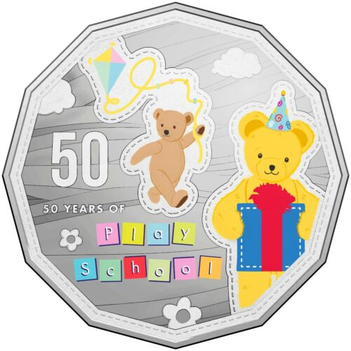 2016 Australia 50c Choice UNC Coin 50 Years of Play School Big Ted /& Little Ted