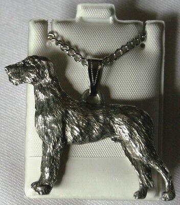 IRISH WOLFHOUND Dog Harris Fine Pewter Pendant USA Made