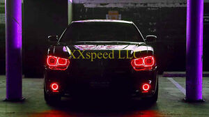 Oracle dodge charger 2011 2014 red led headlight halo angel eyes kit image is loading oracle dodge charger 2011 2014 red led headlight publicscrutiny
