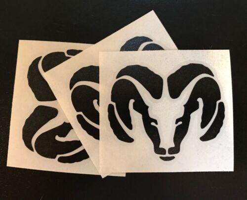 """DIE CUT Black 3/"""" Wide 3 X RAM Vinyl Decal Sticker"""