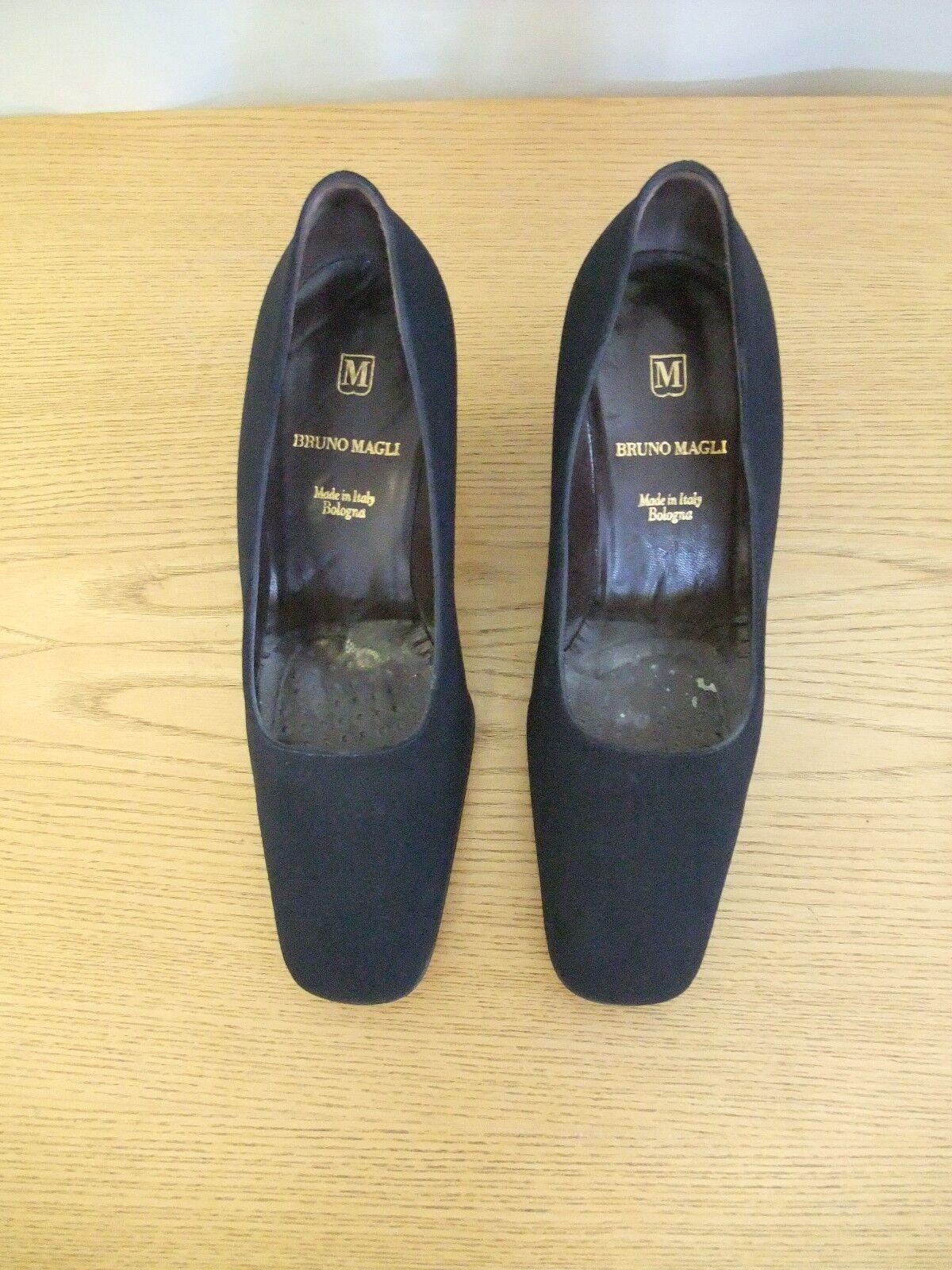 Scarpe Da Donna Bruno Magli Finesse Navy Tessuto tribunali, EU 36, con box 3021