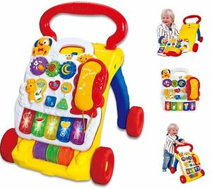 2-In-1-Childrens-Baby-Walker-Musical-Sounds-Activity-Push-Along-Toy-Multicolour