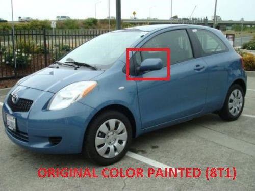 Para Toyota Yaris 06-11 Azul Ala Exterior Espejo Calefacción Eléctrica Izquierda N//S LHD