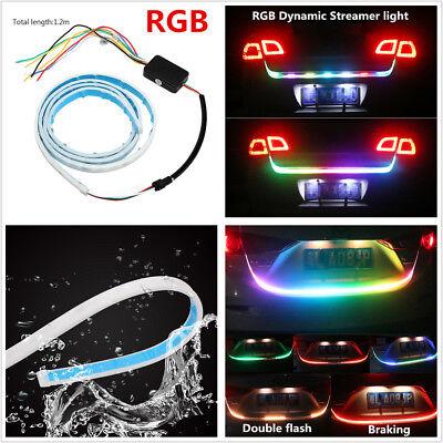 """47"""" RGB LED Car Rear Trunk Strip Light Reverse Tailgate Brake Drive Turn Signal"""