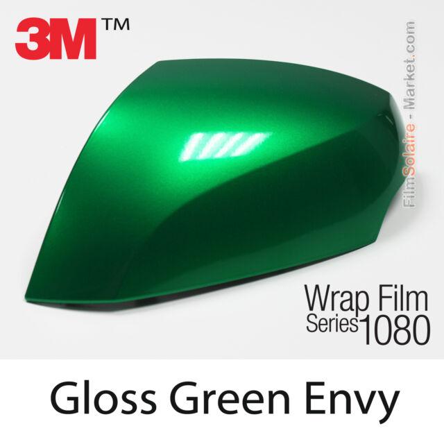 20x152cm LÁMINA Brillante Verde Envy 3M 1080 G336 Vinilo CUBIERTA Series Car