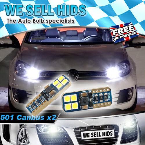 2 x T10 8smd 3030 canbus 10-30V AC Super bright Canbus LEDS AUDI VW MERCEDES BMW