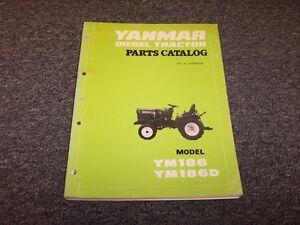 Yanmar YM186 YM186D Diesel Tractor Original Factory Parts