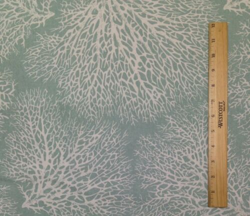 """MAGNOLIA HOME ARIEL SPA FLORAL CORAL CURTAIN FURNITURE FABRIC BY THE YARD 54/""""W"""