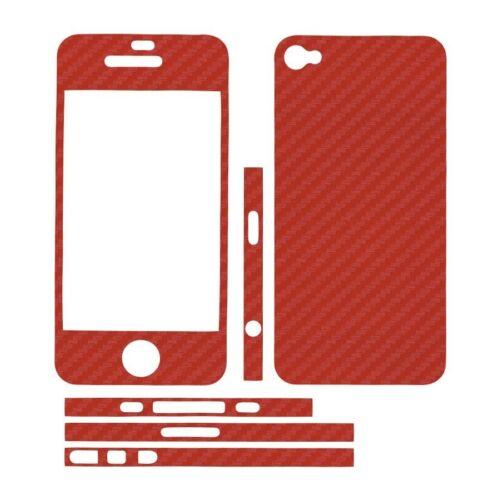 Sticker autocollant aspect carbone 3D skin pour Apple Iphone 4 et 4S