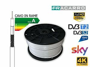 CAVO-ANTENNA-FRACARRO-289700-5-MM-RAME-CAVO-TV-HD-CLASSE-A-Varie-Metrature
