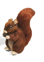 8 Jute Brown Squirrel Figurine