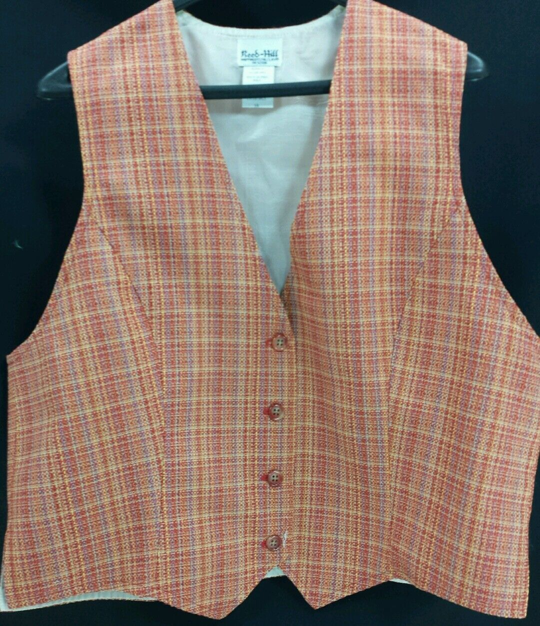 Reed  Hill Ladies Saddleseat Vest SUNSET TWEED ( Red   orange )  Polyester Blend  online shopping