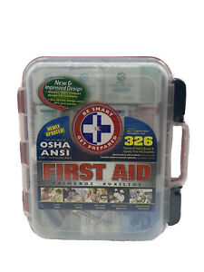 Omar Medical Supplies First Aid Kit, 326 Pieces OSHA Compliant W/Case