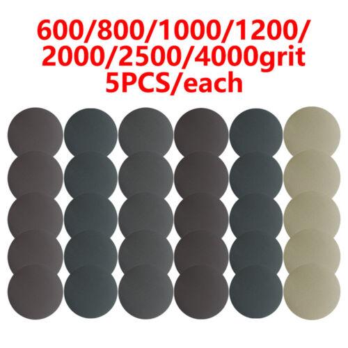 35pcs Set 125mm Schleifscheibe 600-4000 Körnung Haken Ösen Rund Schleifpapier