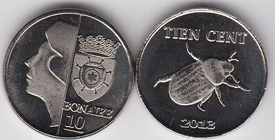 BONAIRE 10 Cents 2013 insect fantasy coinage