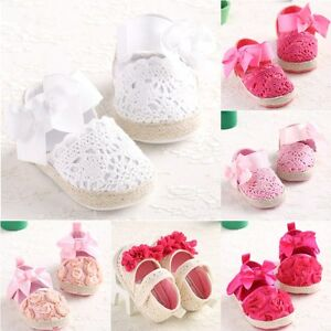 rose baby girls shoes sandal size 0-18 months soft sole anti-slip ...