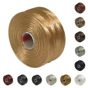 S-lon-Beading-Thread-Mixture-41978-12-bobbins-Size-D-Neutrals-Superlon-Tex-45