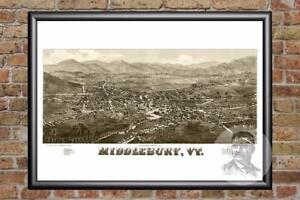 Vintage-Middlebury-VT-Map-1886-Historic-Vermont-Art-Old-Victorian-Industrial