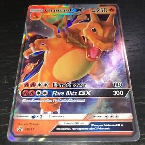 Pokemon-Charizard-Gx-SM211-Ultra-Rare-Holo-Promo-Card-casi-Nuevo