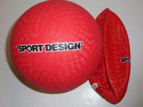 "RED SPORT DESIGN 8-1//2/"" KICKBALL DODGEBALL DEFLATED"