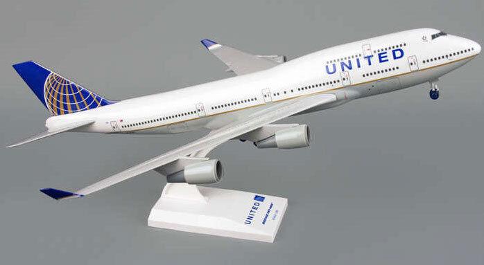 United airlines boeing 747-400 1 200 skymarks avión modelo skr614 b747 nuevo
