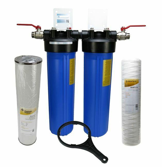 FILTRO acqua domestica FONTANA FILTRO 20  Big blu Pentek doppio sedimenti-FERRO