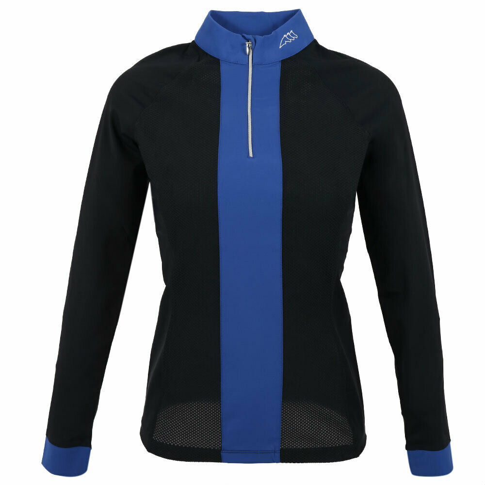 EQUILINE FIAMMA donna POLO Anti UV LS Blu SS 2019