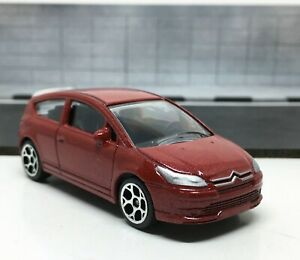Majorette-Citroen-C4-Coupe-Red-1-57-254F-Wheel-5Y-no-Package-Free-Display-Box