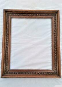 Victorian-Carved-Oak-Large-Picture-Frame-26-inches-x-22-inches-Rebated-19th-C