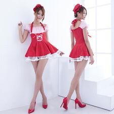 Lolita Japanese School Girl Maid Halloween Costume Uniform Cosplay Fancy Dress