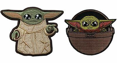 Baby Child Yoda Child Pod Mandalorian Patch Iron on Sew on - CP5