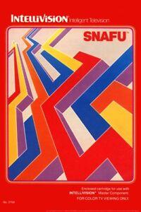 SNAFU-Intellivision-Box-Art-Video-Gaming-Poster-12x18-inch