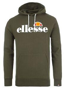 ellesse-Mens-Cotton-Overhead-Gottero-Hooded-Sweatshirt-Top-Khaki-Green-Hoodie