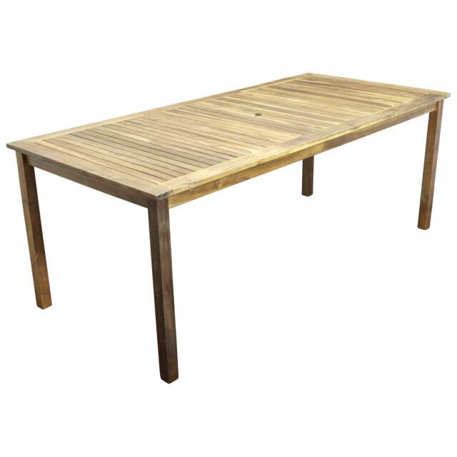 Gartentisch Holztisch Akazientisch Gartenmöbel Tisch CARTAGO 200x90 cm Holz neu
